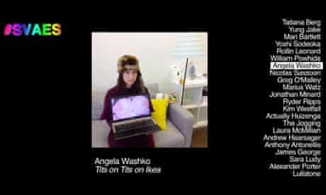Vine art display Angela Washko