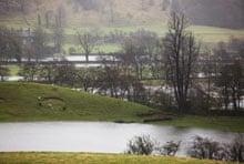 Flooded farm land