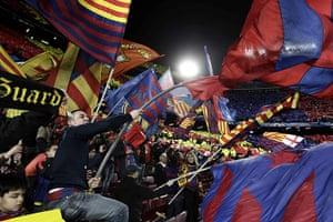 Barcelona v Milan: Barcelona fans