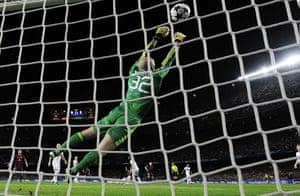 Barcelona v Milan: AC Milan's goalkeeper Chistian Abbiati makes a save