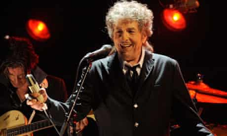 Bob Dylan performing in Los Angele