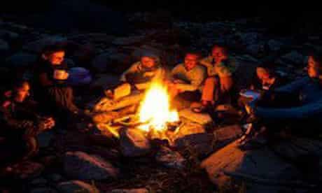 embers campfire
