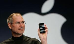 Steve Jobs with iPhone
