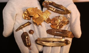 The Staffordshire hoard, the UK's largest collection of Anglo Saxon treasur