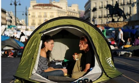 Spanish Demonstrate Unemployment and Austerity