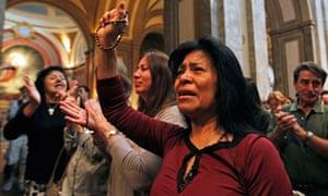 Roman Catholics celebrate election Argentine Cardinal Jorge Bergoglio Pope Francis