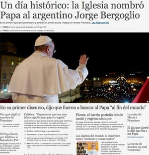 Clarín newspaper website