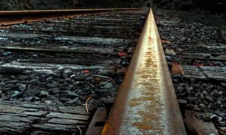 Rusty train track
