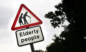 Elderly people sign