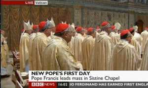 Mass at the Sistine Chapel.