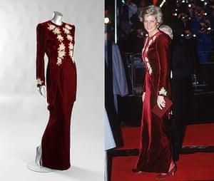 Diana Auction: Catherine Walker burgundy velvet sheath
