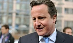 British Prime Minister David Cameron arr