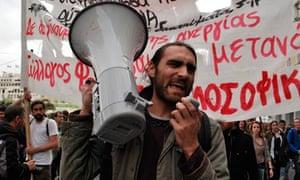 greece austerity demo