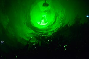 Adelaide festival Thurs: Robin Fox's lazer show on Thursday night at Unsound