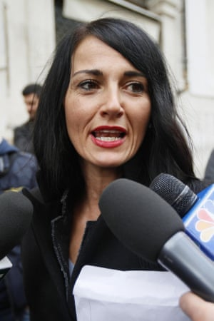 The Five Star Movement's newly-elected Donatella Agostinelli arrives at the Italian Parliament in Rome, earlier this week.
