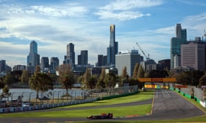 Sebastian Vettel of Germany during the second practice session for Sunday's Australian Formula One Grand Prix at Albert Park on a beautiful day in Melbourne, Australia.