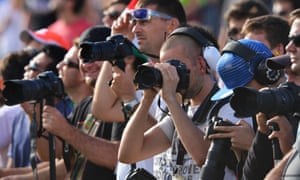 With F1 fans watching and photographing everything.