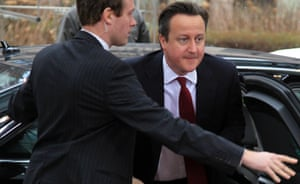 David Cameron arrives at the European Union (EU) leaders summit in Brussels this morning.