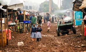 Street Scene - Deep Sea Slum - Nairobi, Kenya. Image shot 2007. Exact date unknown.