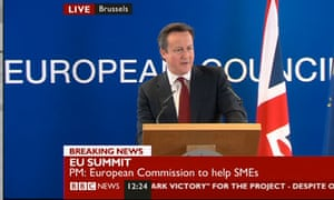 David Cameron in Brussels on 15 March 2013.
