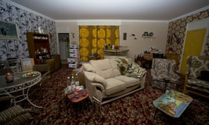 Lovely jubbly: A view of the 'Only Fools and Horses' themed room at the Ideal Home Show at Earls Court.