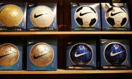 Nike brand soccer balls