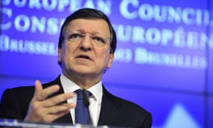 European Commission president Jose Manuel Barroso speaking today.