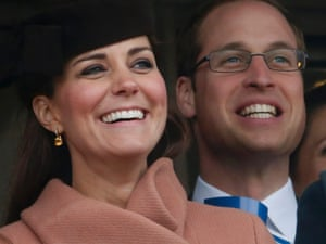 Prince William and Catherine, Duchess of Cambridge, enjoying themselves at the Cheltenham Festival horse racing.