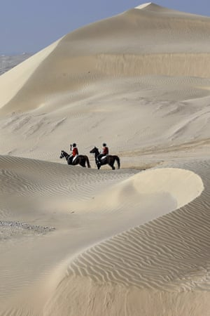 More equestrianism: Riders take part in the Sheikh Sultan Bin Zayed al-Nahyan International equestrian festival near the Emirati capital Abu Dhabi