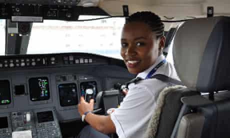 Rwanda first female pilot Esther Mbabazi