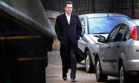 Chancellor George Osborne at Downing Street