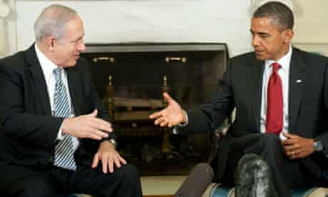 Barack Obama meets Binyamin Netanyahu