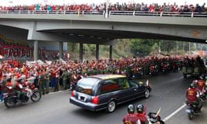 President Hugo Chavez funeral procession