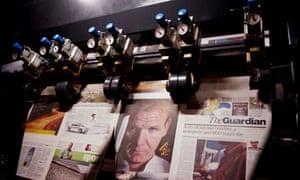 Guardian printing presses