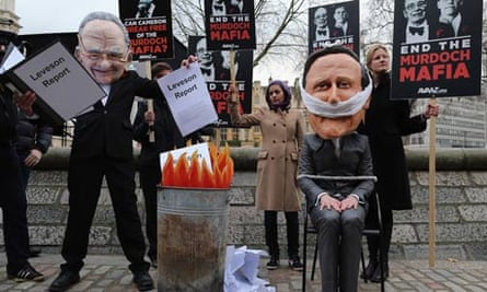 Protesting against the Leveson inquiry