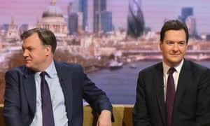 George Osborne and Ed Balls appear on the BBC's Andrew Marr Show