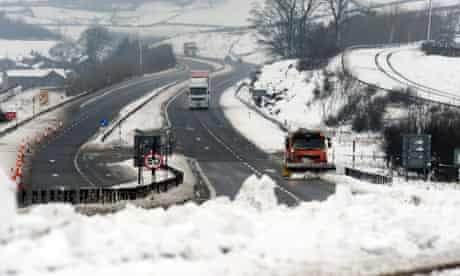 A snow-plough clears the A66 near Bowes, County Durham, where the road was closed for several hours due to heavy snow. Forecasters have warned that another cold snap is on its way - with parts of the country facing more snow and freezing temperatures.