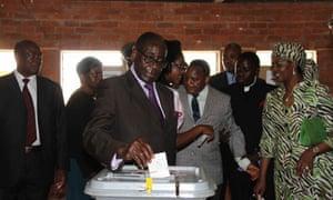 Mugabe votes