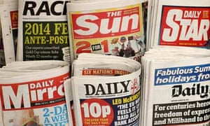 Newspapers at a newsstand