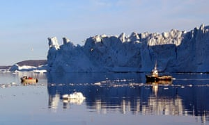 An iceberg off the west coast of Greenland