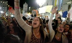 Argentinians attend a vigil with music and prayers on the eve of the official beginning of the papacy of Pope Francis at Cathedral of Buenos Aires, Argentina.
