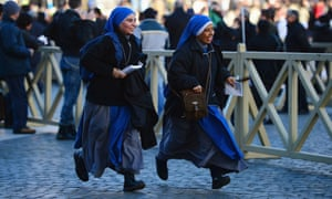 The inauguration is being held in front of an expected crowd of up to one million pilgrims and faithful who have crowded into St Peter's Square and the surrounding streets to see the former Cardinal of Buenos Aires officially take up his position.