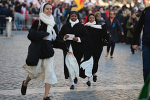 Cardinals, spiritual leaders and heads of state from around the world are attending the inauguration - Pope Francis will now lead an estimated 1.3 billion Catholics.