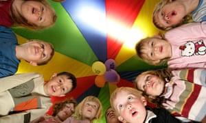 Children at nursery school