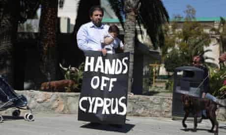 Cypriots protest outside parliament