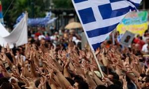 Anti-austerity protest in Greece