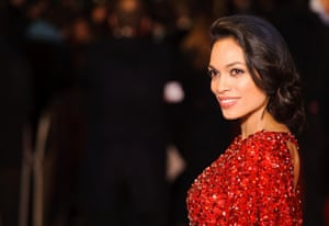 Rosario Dawson arriving at the World Premiere of Trance, at the Odeon West End, in Leicester Square, London.