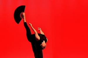 """Acrobats of the Chinese National Circus perform a new program """"Feng Shui Life Harmony"""" in Brno, Czech Republic."""