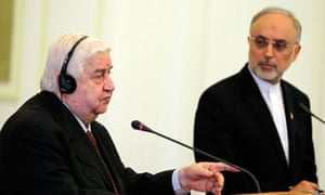Syrian and Iranian foreign ministers
