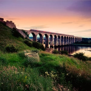 Railways: The Royal Border Railway Viaduct at Berwick upon Tweed